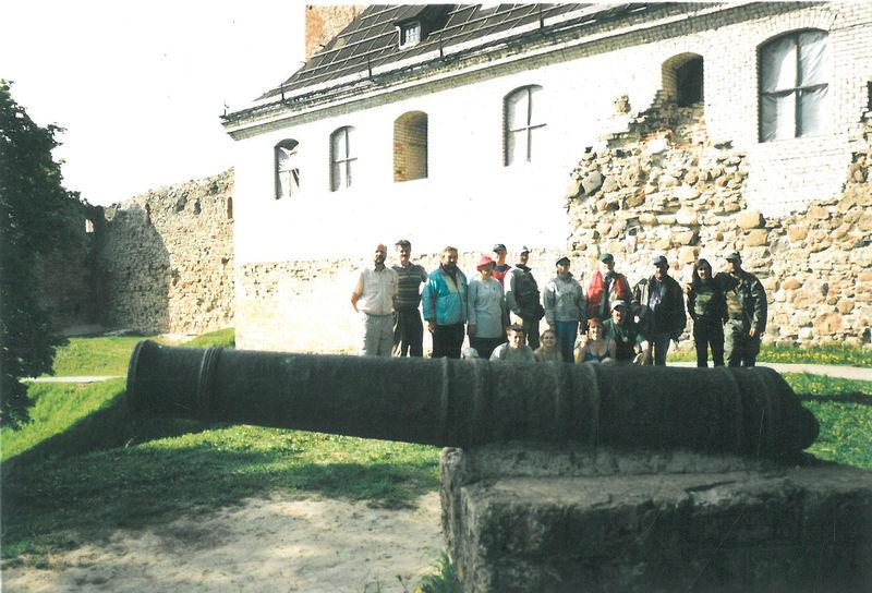 Pirmasis plaukimas Nemunėliu, Bauskės pilis