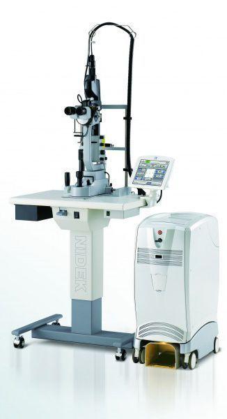 Daugiaspalvis skenuojantis lazerinis fotokoagulaitorius NIDEK MC - 500 Vixi