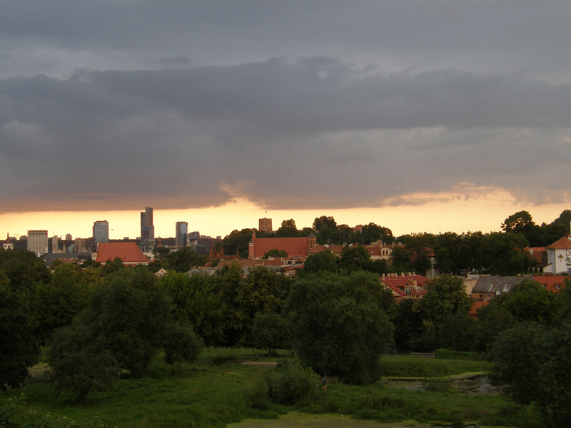 vilnius panorama in the evening