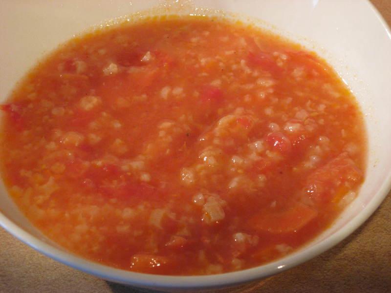 Anonsaslt Pomidorinė Sriuba Su Neluptais Pomidorais