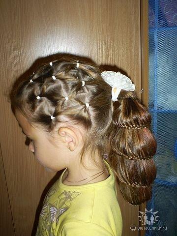 Детские причёски на девочек фото.