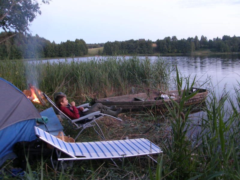 Karsiu zvejyba ezere